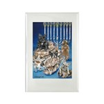 Frenchie Christmas Rectangle Magnet (10 pack)