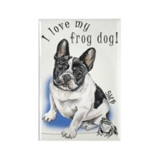 Frog Dog (PIED, BOY) Rectangle Magnet