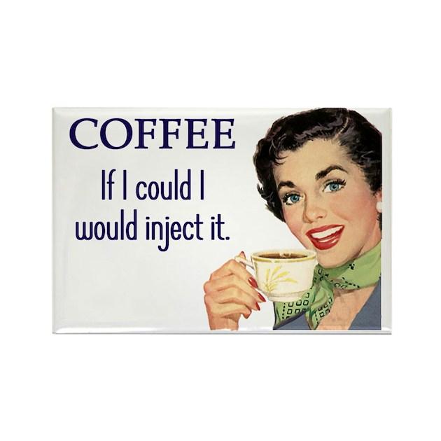 Coffee Junkie Rectangle Magnet by cafepretzel