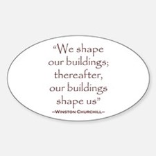 Winston Churchill Preservation Quote Decal
