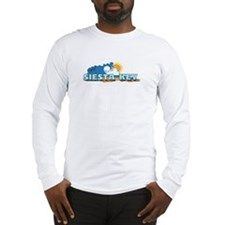 Siesta Key FL - Waves Design Long Sleeve T-Shirt