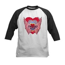 Twilight Mom Crimson Grunge Winged Crest Tee