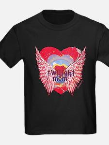 Twilight Mom Crimson Grunge Winged Crest T