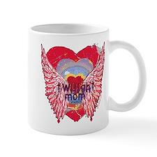 Twilight Mom Crimson Grunge Winged Crest Mug
