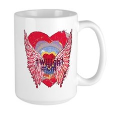 Twilight Mom Crimson Grunge Winged Crest Mug