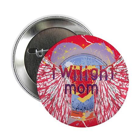 Twilight Mom Crimson Grunge Winged Crest 2.25&quot