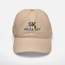 Siesta Key FL - Nautical Design Baseball Baseball Cap
