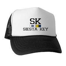 Siesta Key FL - Nautical Design Trucker Hat