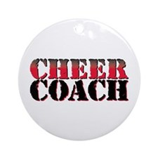 Cheer Coach Ornament (Round)
