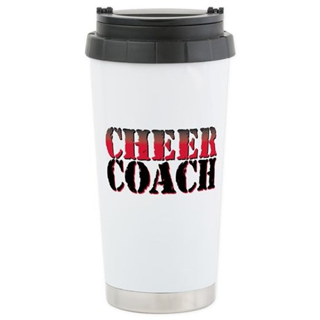 Cheer Coach Stainless Steel Travel Mug