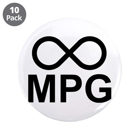 "Infinite MPG 3.5"" Button (10 pack)"