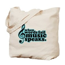 Popular Music Speaks Tote Bag