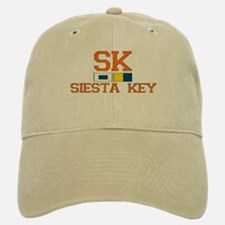 Siesta Key FL - Nautical Design Baseball Baseball Cap