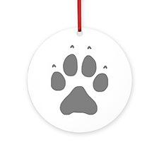 Wolf Paw Ornament (Round)