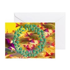 Yellow Wreath Reef Greeting Cards (Pk of 10)