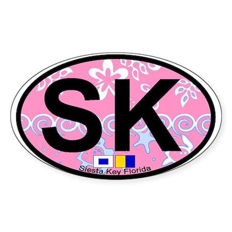 Siesta Key FL - Oval Design Oval Sticker