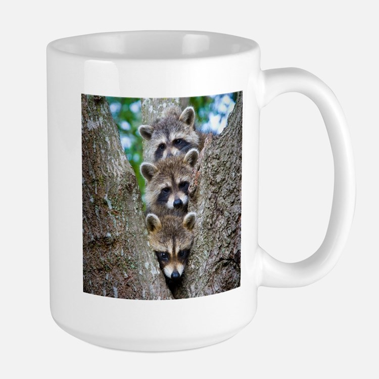 Baby Raccoon Trio Coffee Mug