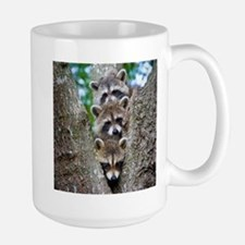 Baby Raccoon Trio Large Mug
