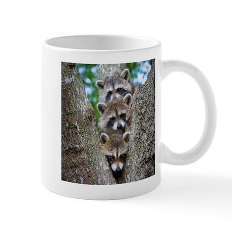Baby Raccoon Trio Mug