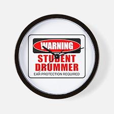 Student Drummer Wall Clock