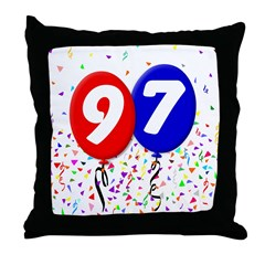 97th Birthday Throw Pillow