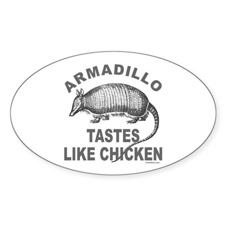 ARMADILLO Oval Sticker (50 pk)
