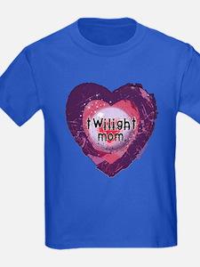 Twilight Mom Violet Grunge Heart T