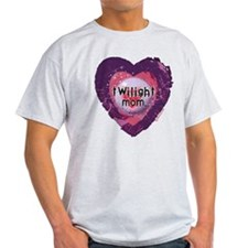 Twilight Mom Violet Grunge Heart T-Shirt