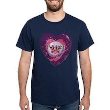 Twilight Mom Violet Grunge Heart T-Shirt