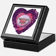 Twilight Mom Violet Grunge Heart Keepsake Box