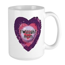 Twilight Mom Violet Grunge Heart Mug