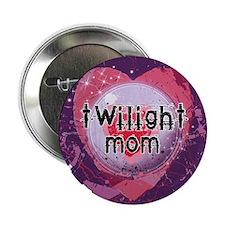 """Twilight Mom Violet Grunge Heart 2.25"""" Button"""