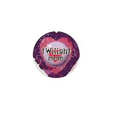 Twilight Mom Violet Grunge Heart Mini Button