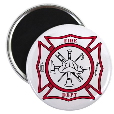 Fire Dept Maltese Cross Magnet