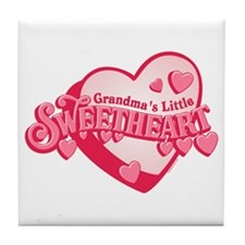 Grandma's Sweetheart Tile Coaster