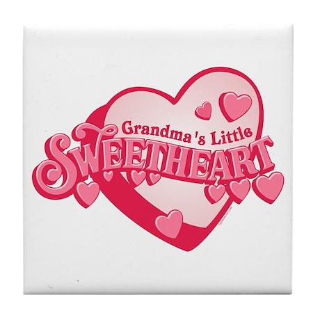Grandma's Sweetheart Tile Coaster