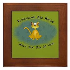 Professional Cat Herder Funny Framed Tile