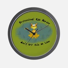 Professional Cat Herder Funny Wall Clock