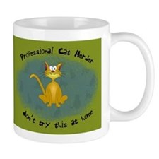 Professional Cat Herder Funny Small Mugs