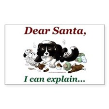 Dear Santa Rectangle Decal