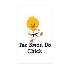 Tae Kwon Do Chick Rectangle Sticker 50 pk)