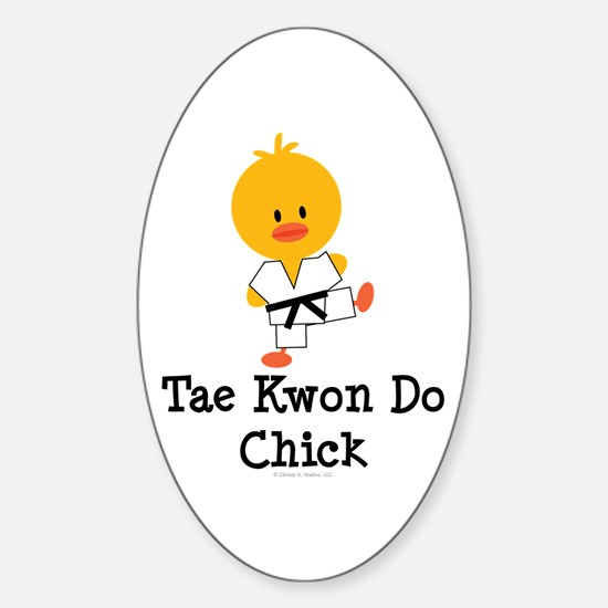 Tae Kwon Do Chick Oval Decal