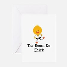 Tae Kwon Do Chick Greeting Cards (Pk of 10)