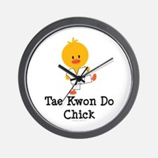 Tae Kwon Do Chick Wall Clock