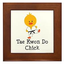 Tae Kwon Do Chick Framed Tile
