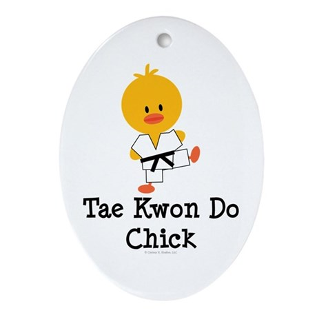 Tae Kwon Do Chick Oval Ornament