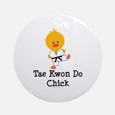 Tae Kwon Do Chick Ornament (Round)