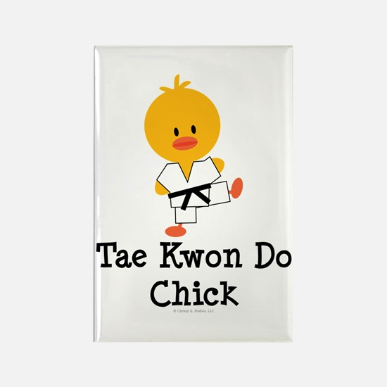 Tae Kwon Do Chick Rectangle Magnet