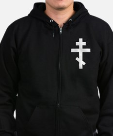 Orthodox Plain Cross Zip Hoodie