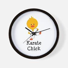 Karate Chick Wall Clock